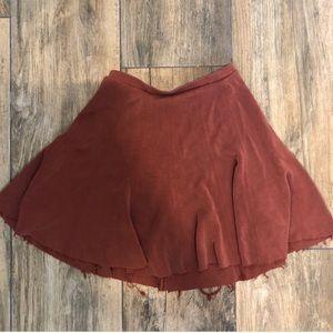 UO Silence + Noise Burnt Orange Skater Skirt